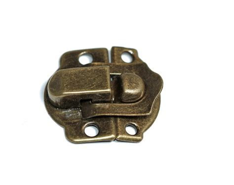 3 pack of Mini Antique Gold metal latch embellishments