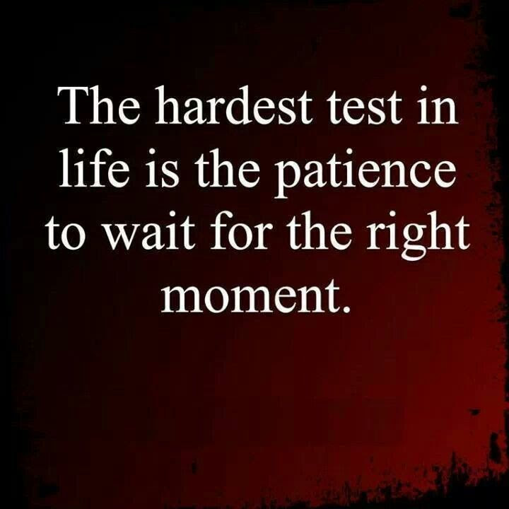 Quotes About Waiting For The Right Moment 20 Quotes