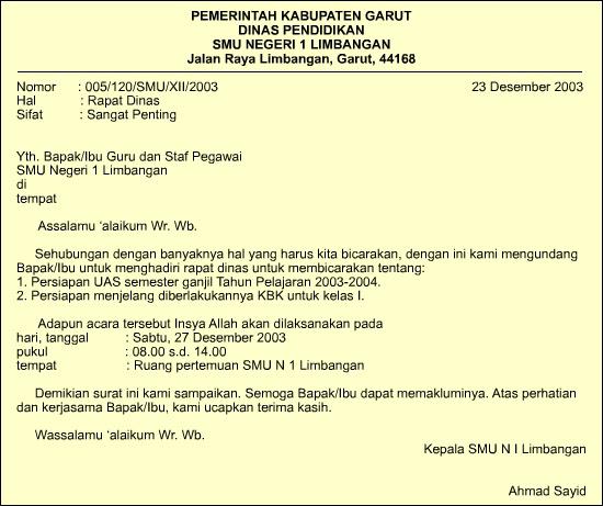 contoh surat undangan seminar resmi bahasa inggris