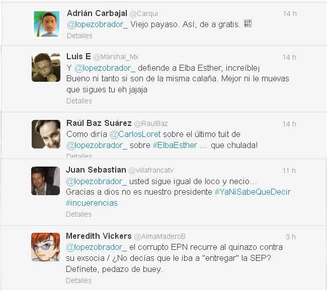 Twitteros de derecha arremeten contra AMLO por caso Elba Esther Gordillo