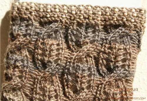 Crytal, Combs and cables socks- leg