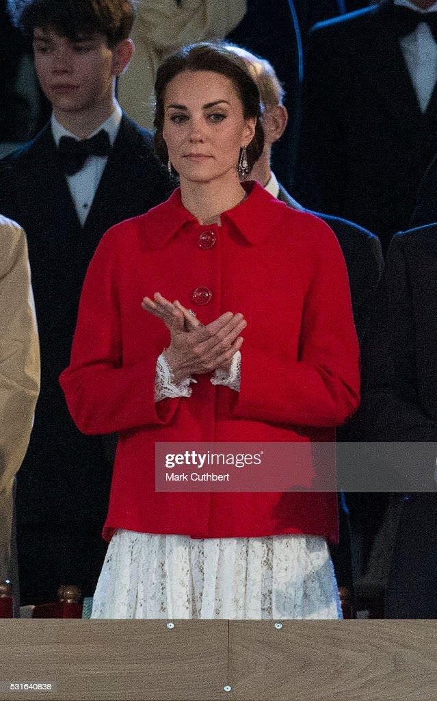 Katarzyna, księżna Cambridge w Queen w 90. Obchody urodzin w Royal Windsor Horse Show w dniu 15 maja 2016 w Windsor, Anglia.