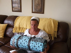 Mary and her quilt 01