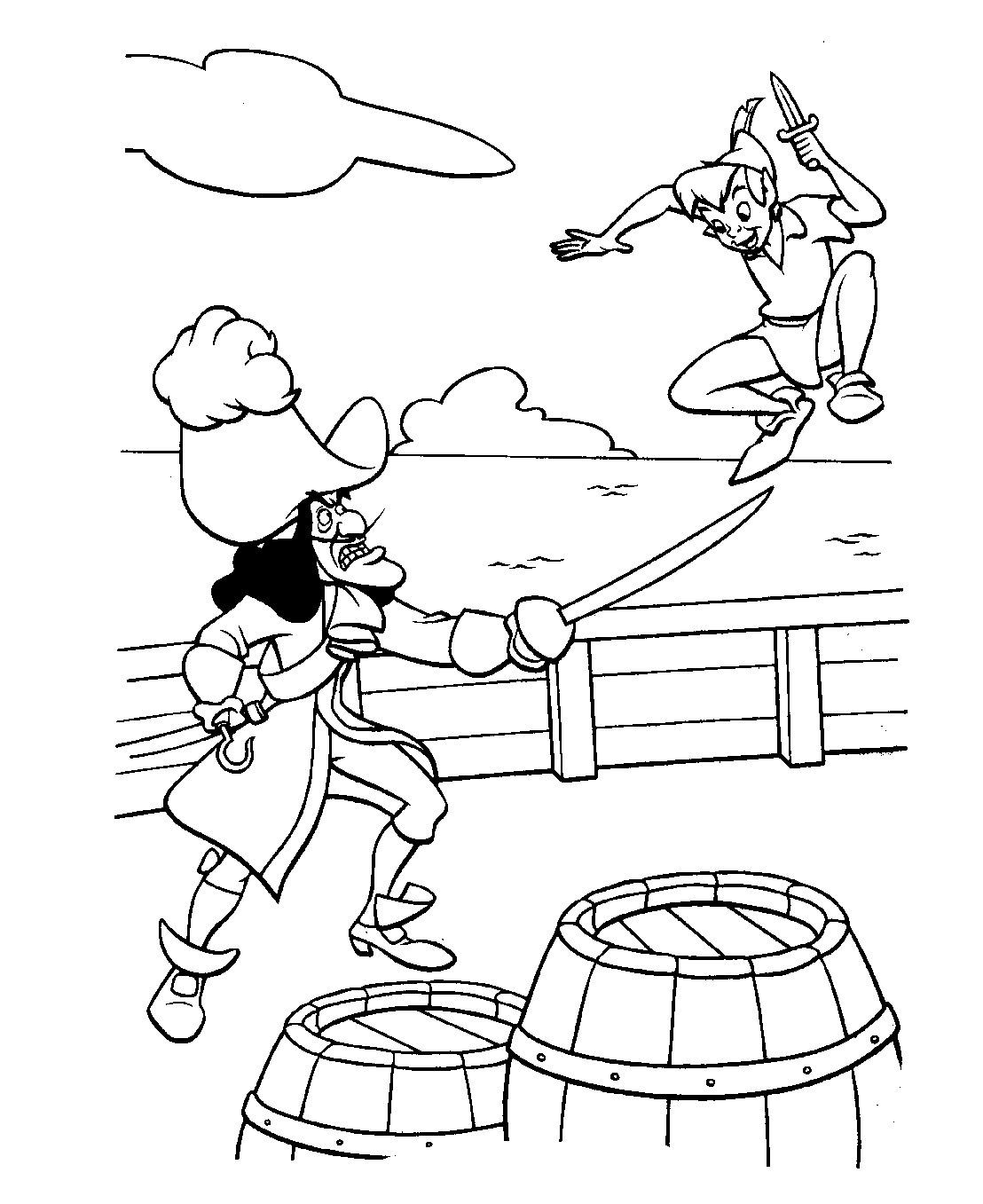 Peter Pan Da Stampare - disegni da colorare