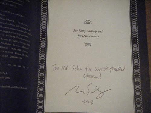 My signed copy: :)