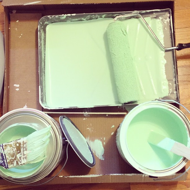 Day41 painted my office a shade of mint green 2.10.13 #jessie365