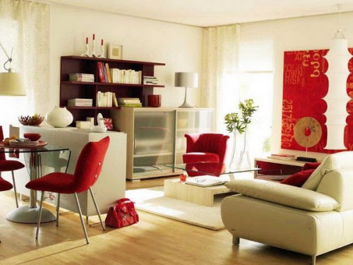 Simple Zoning Of A Modern Living and Dining Areas Combination ...