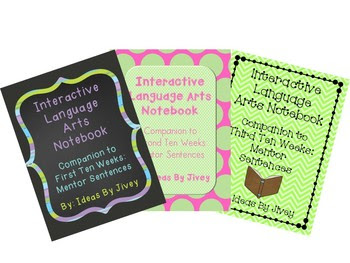 Mentor Sentence Interactive Language Arts Notebooks Bundle