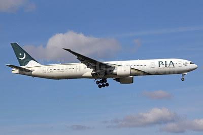 PIA-Pakistan International Airlines Boeing 777-340 ER AP-BHV (msn 33778) LHR (Michael B. Ing). Image: 909382.