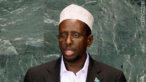 Somali President Sheikh Sharif Sheikh Ahmed, pictured at the United Nations, New York, in September.