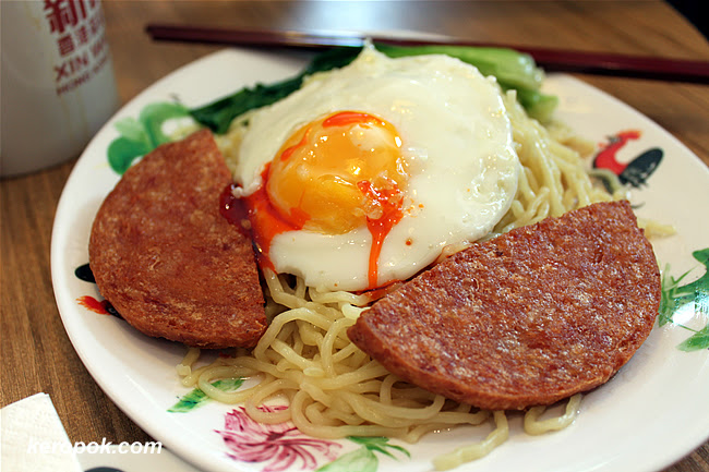 Pasta with Luncheon Meat and Egg