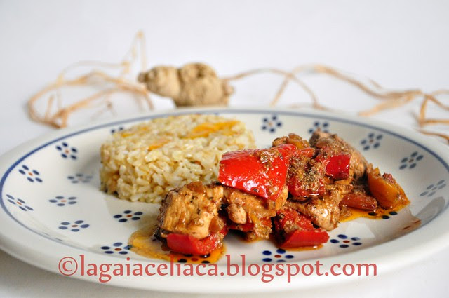 pollo peperoni e aceto balsamico