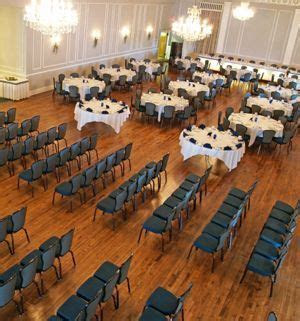 Ceremony and reception in the same room. Split between the