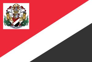 English: Royal Standard of the Prince of Sealand.