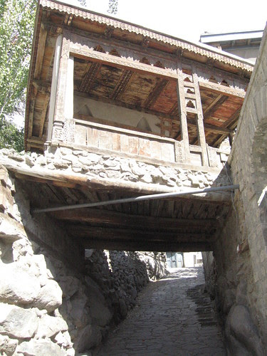 "The house was built over the flagstone ""road"" running down from the fort to the Karimabad shops"