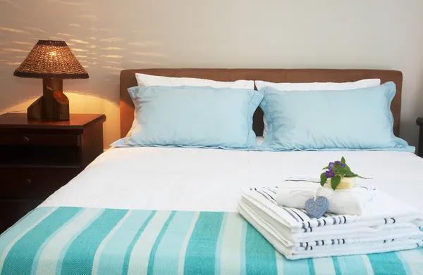 Beautiful bedroom interior Stock Photo © Olena Talbe