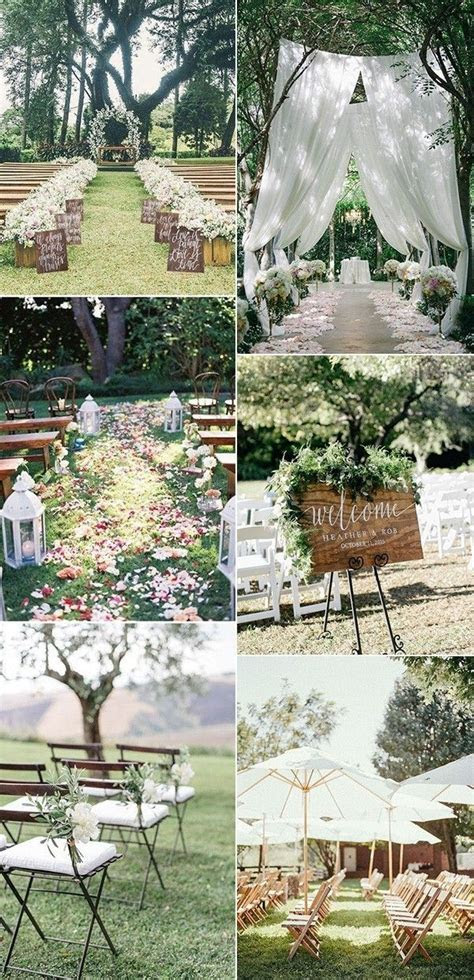 35 Brilliant Outdoor Wedding Decoration Ideas for 2018