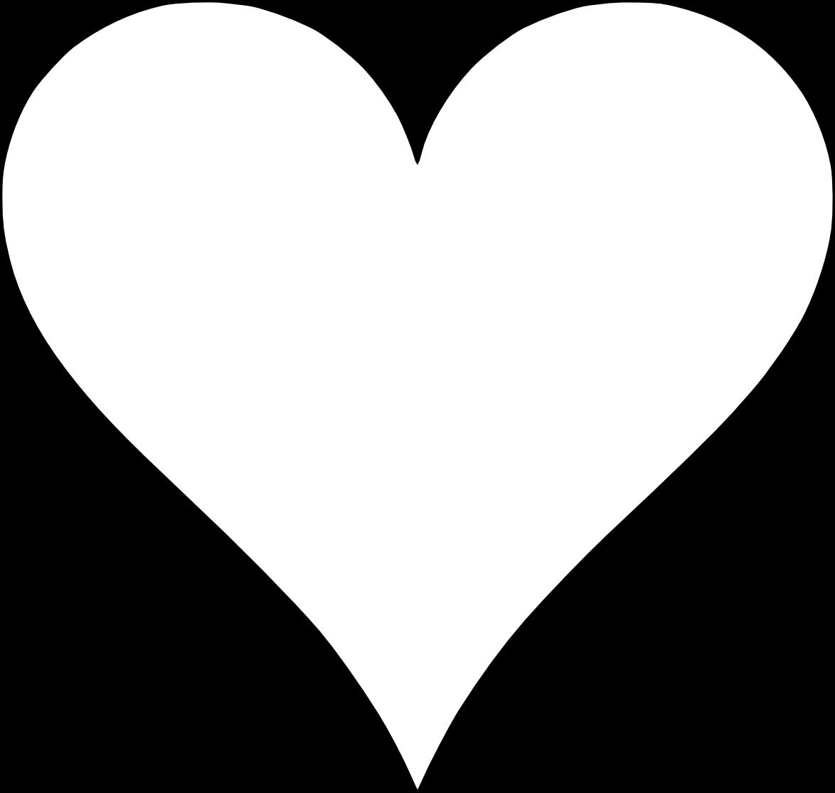 Printable Heart Template | 2017 Calendar