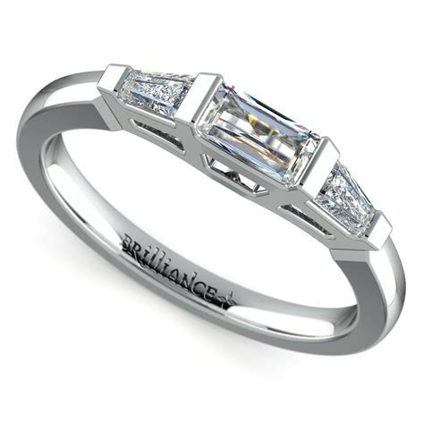 Baguette Diamond Wedding Ring in White Gold (1/2 ctw)