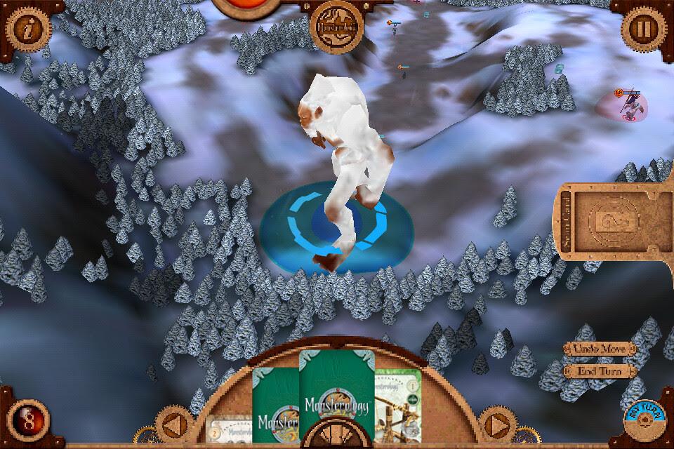 Monsterology game play Yeti