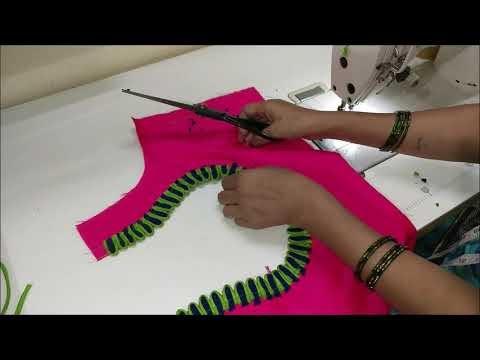 New model patchwork blouse design