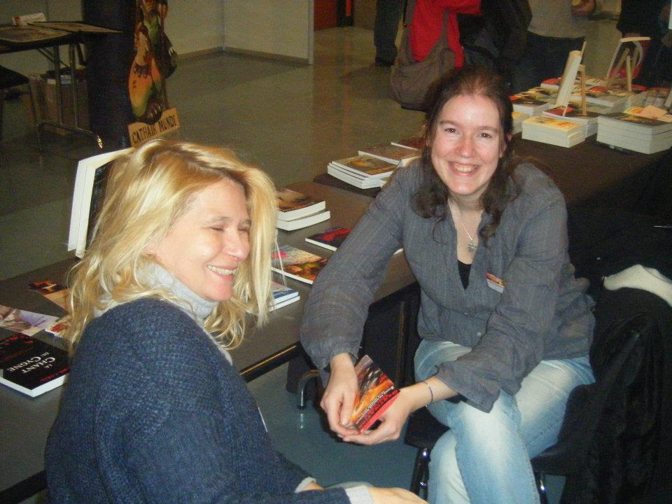 Laetitia Carau (hilare) et Aurélie Wellenstein