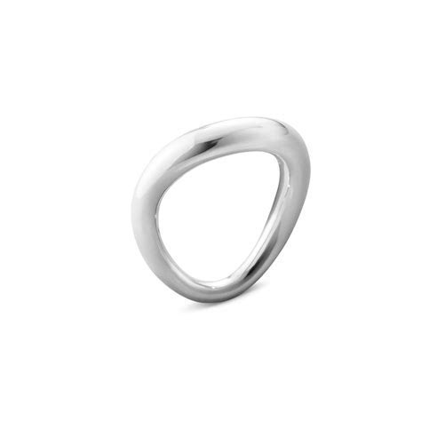Georg Jensen Offspring sterling silver curved ring