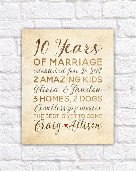 10 Year Anniversary Gift, Wedding Anniversary Decor
