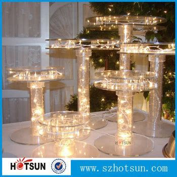 Shenzhen Wholesale Acrylic Wedding Cake Stand With Lights