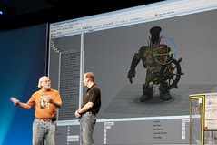 """Mark Gerhard and James Gosling, General Session """"The Toy Show"""" on June 5, JavaOne 2009 San Francisco"""