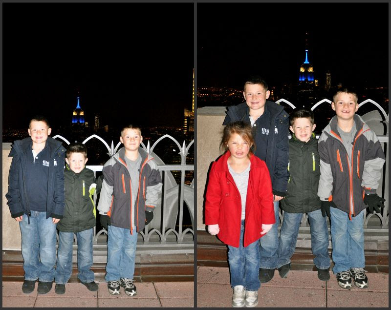 kids at top of the rock
