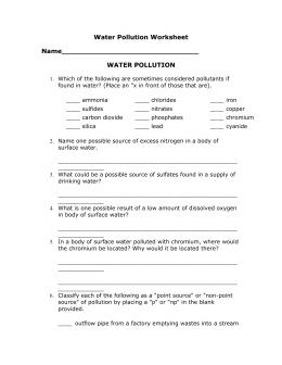 27 45 Aquatic Ecosystems Worksheet Answers   Worksheet ...