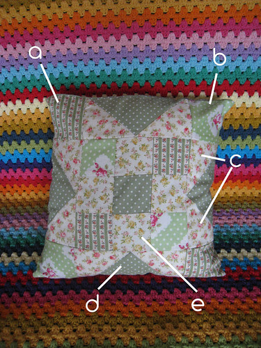 Patch work cushion