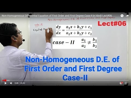 AMMATHS TUTORIALS : Non-Homogeneous Differential Equation of