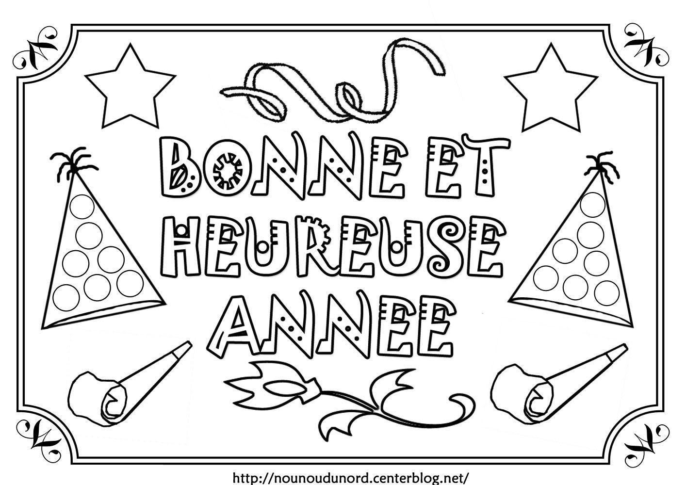 Coloriage Carte De Voeux Bonne Annee 2019 Noël Européen 2019