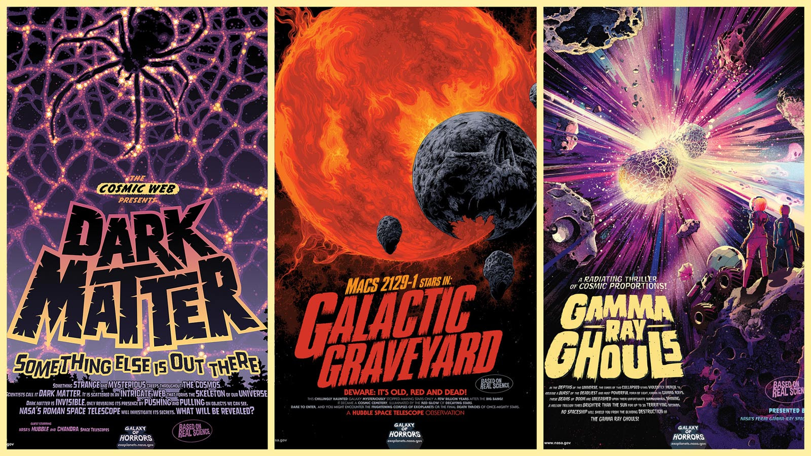 Grab these spooky (and free) NASA space posters to haunt your Halloween #rwanda #RwOT Happy Halloween