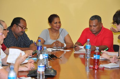 Meeting with officials at Government House.