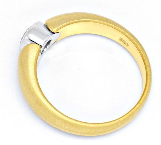 Originalfoto BRILLANT-RING 0,31 DIAMANT RIVER-D 18K GOLD LUXUS! NEU!