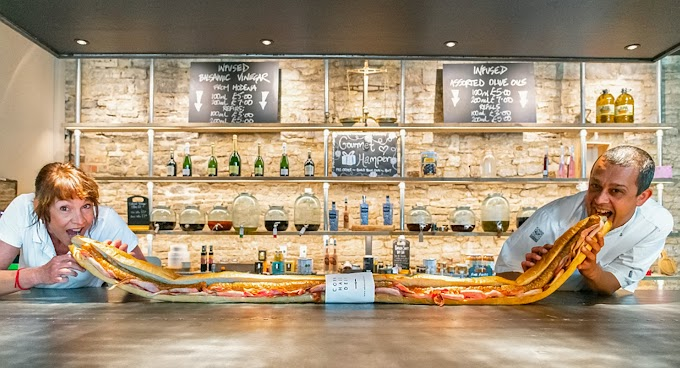 TREND ESSENCE: Chef creates 6.5-foot-long 'Back to Work Baguette' to allow customers to eat while social distancing