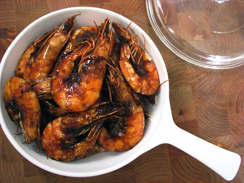 sweet soy sauce and black pepper prawns recipe