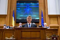 Klaus Iohannis, discurs in Parlament (foto arhiva)