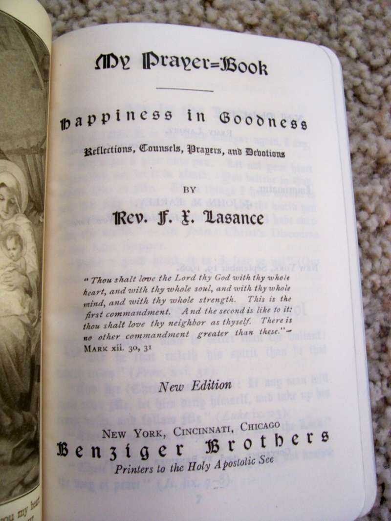 Prayer Book With An Inscription And Signature Of Benedict Xv Papal