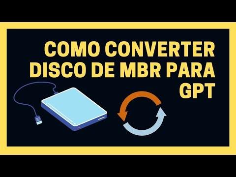 Como Converter MBR em GPT sem perder dados no Windows 10
