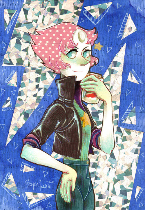 Pearl, because I'm so happy for her :) wow xD the scanner did not like this shiny tape x)