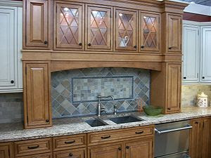 Kitchen cabinet display in NJ in 2009. For use...