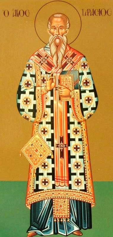 img ST. TARASIUS, Confessor, Patriarch of Constantinople