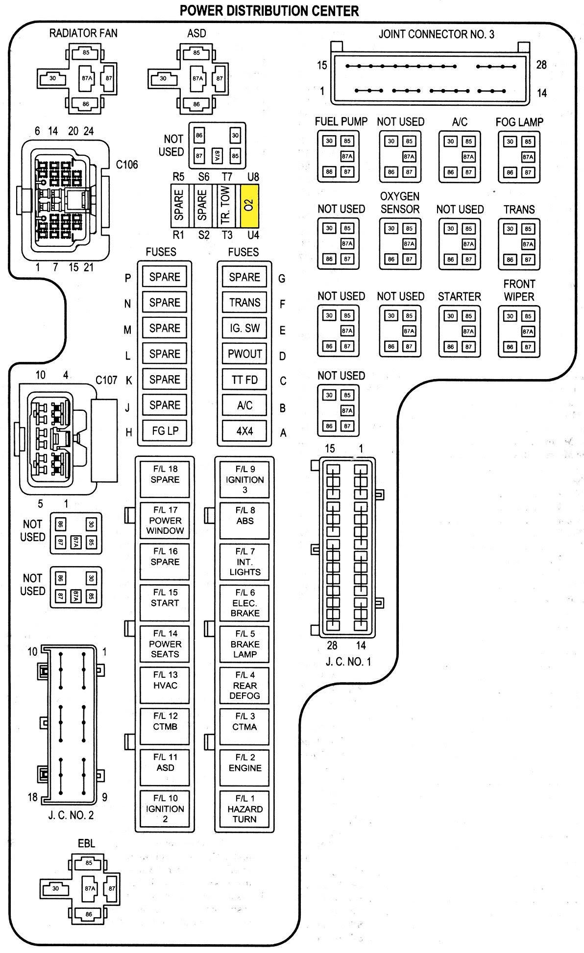 928c7 Fuse Box Diagram 2002 Dodge Durango Engine Wiring Resources