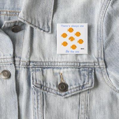 Cute Motivational Inspirational Gift Button Pins by Swisstoons