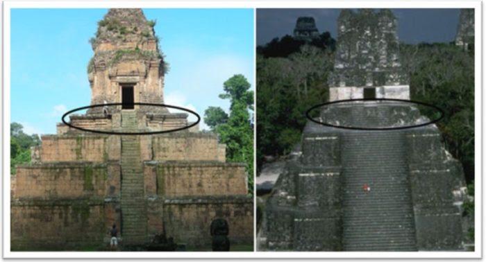 αξιοσημείωτες ομοιότητες μεταξύ ναούς και τις πυραμίδες κατά μήκος του Ειρηνικού Ωκεανού
