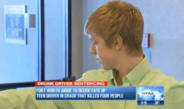 Ethan Couch enters court to be sentenced for the horror smash which killed four people